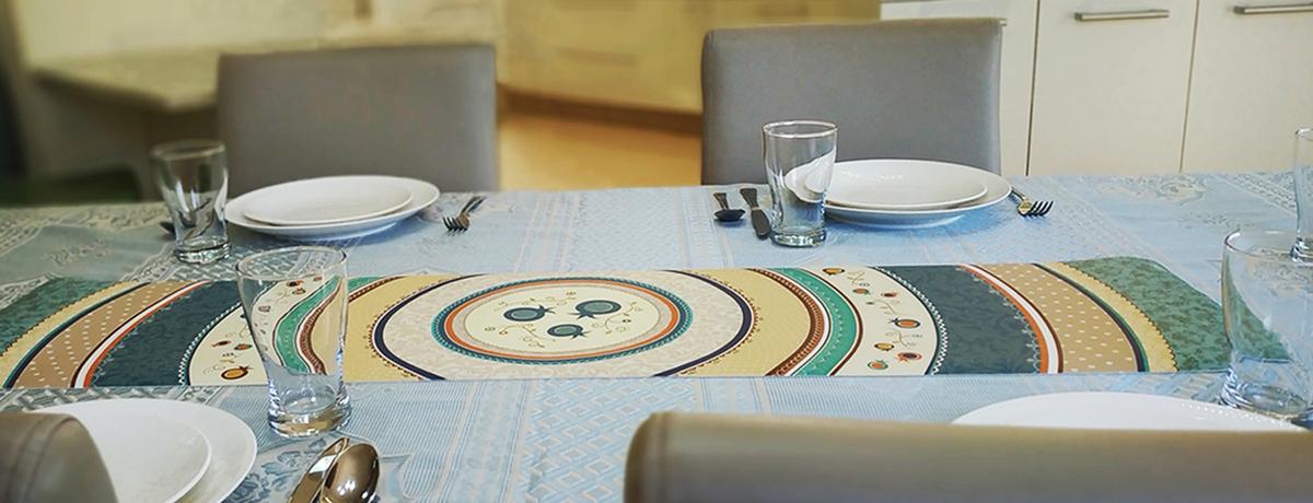 ראנרים לשולחן - דוגמא - אמנות יודאיקה ייחודית