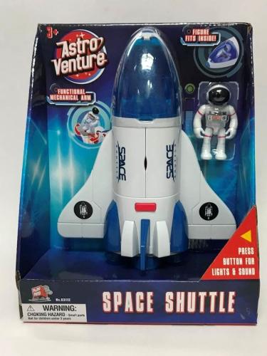 מעבורת חלל עם אסטרונאוט אור וקולות