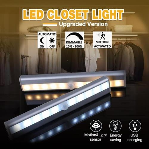 מנורת לדים עוצמתית במיוחד עם חיישן תנועה להדלקה אוטומטית