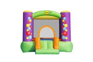 מתקן קפיצה מגלשת בועות וחישוק הפי הופ - 9201B - Bubble Slide And Hoop Bouncer Happy Hop