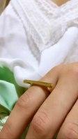 טבעת פס זהב