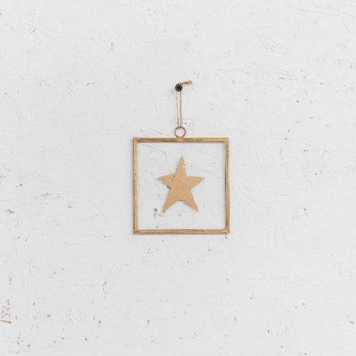 שלט זכוכית קטנטן - כוכב (זהב)