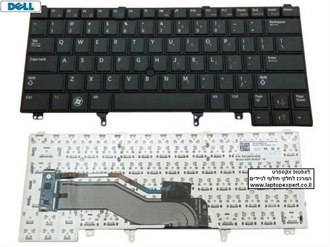 החלפת מקלדת למחשב נייד דל Dell Latitude E6320 E6420 E5420 E5520 Laptop Keyboard C7FHD 0C7FHD