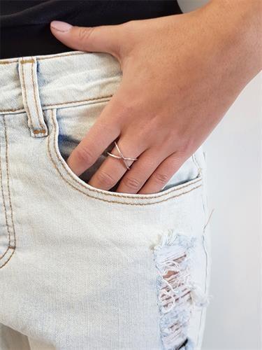 טבעת איקס חלק