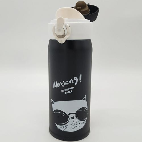 בקבוק שתייה מנירוסטה צבע שחור