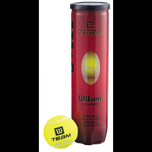קופסת כדורי טניס Wilson Team W Practice ארבעה כדורים