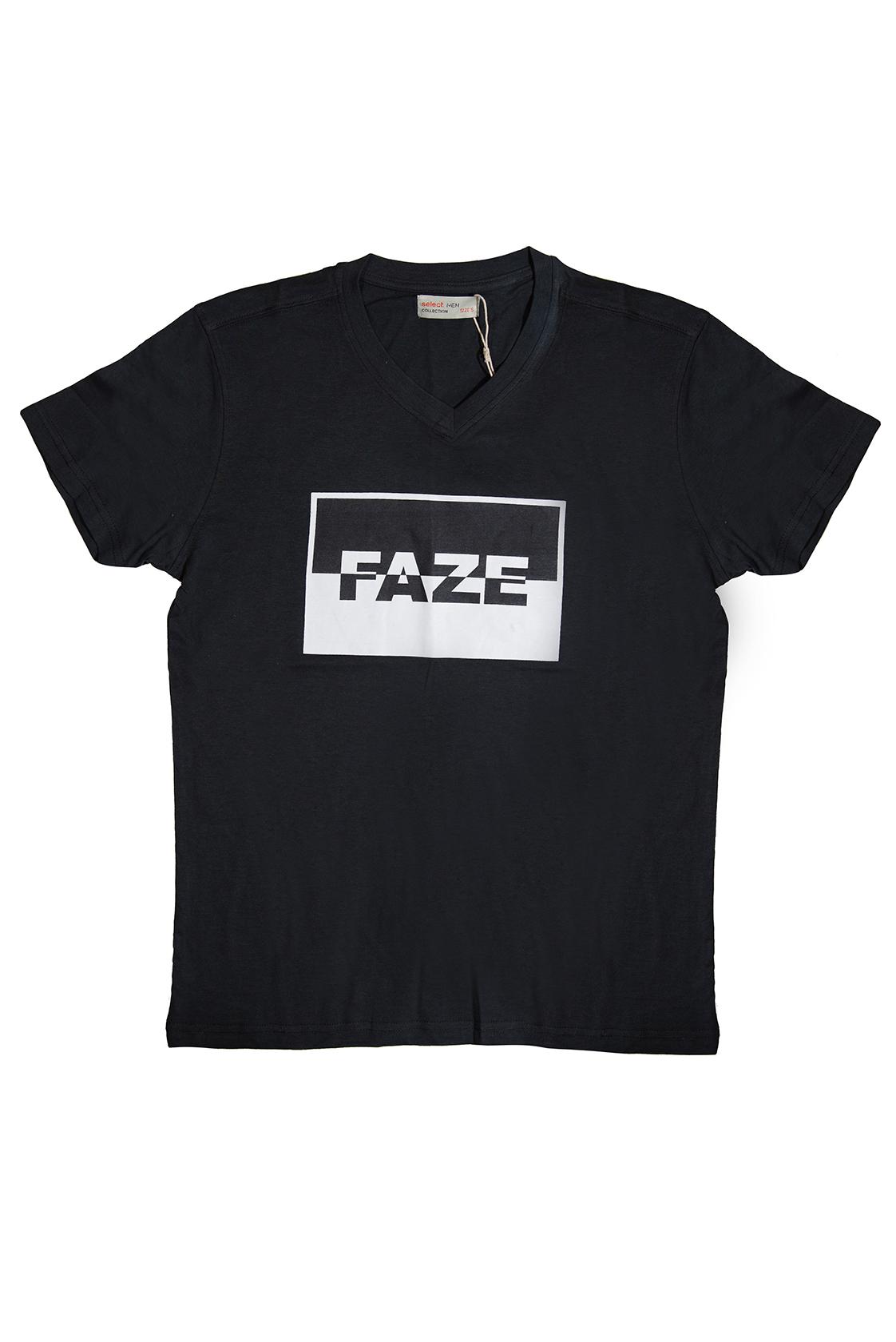 חולצת גברים FAZE שחור לבן