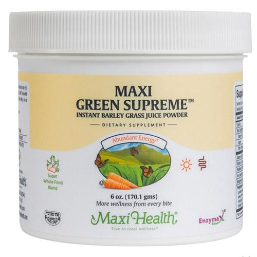 -- Maxi Green Supreme™  אבקת מיץ אנרגיה טבעי מרוכז -- 170 גרם, Maxi Health