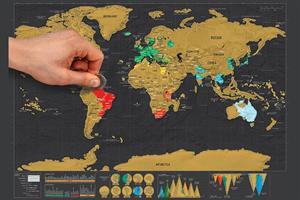 לגרד את העולם עם מטבע - מפת גירוד לאוהבי טיסות וטיולים!!!