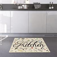 סט של שטיח ומשטח תואם לשיש | משטח לתבלינים | משטח לקפה