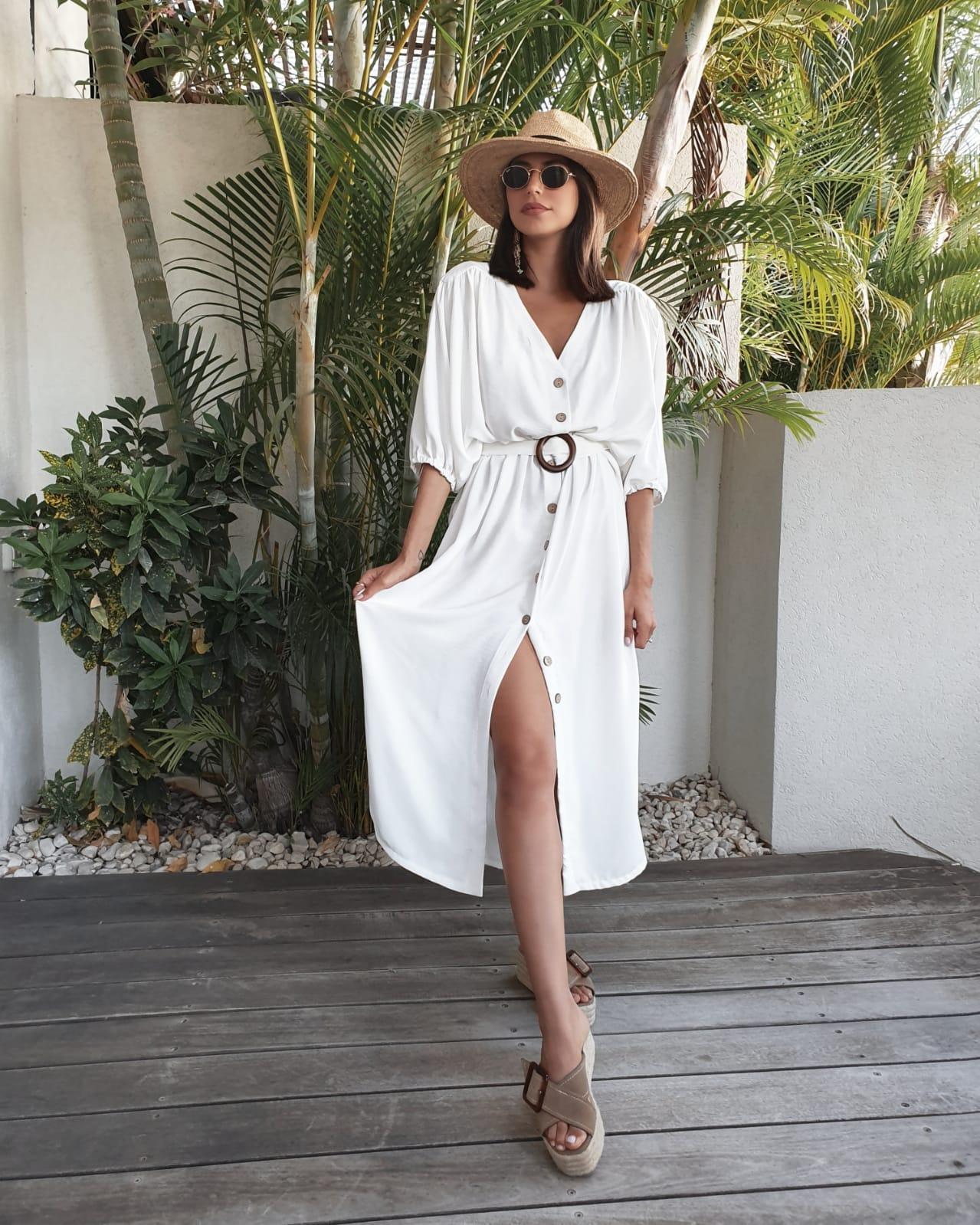 שמלת ג׳ורדן - לבנה