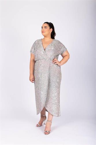 שמלת לורנה פייטים אולטרה סגול