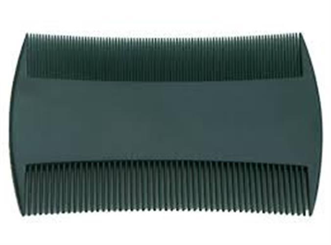 מסרק כינים פלסטיק עם שיניים צפופות - מארז זוג שחור ולבן