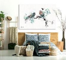 תמונה לחדר שינה ציפורים