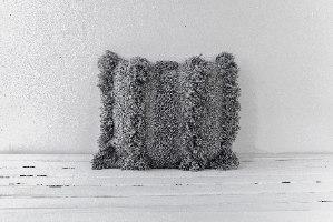 כרית שאגי מרובעת - אפור
