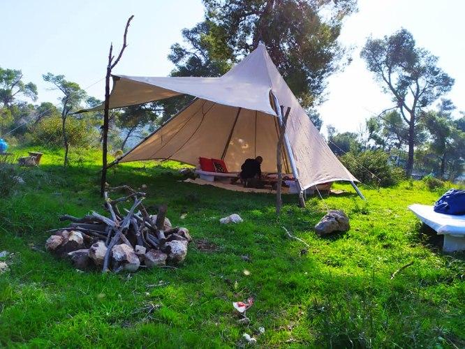 אוהל טיפי קוטר 5 מטר