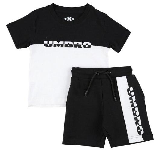 חליפת בנים שחור/לבן UMBRO         -                                                       מידות 2-14
