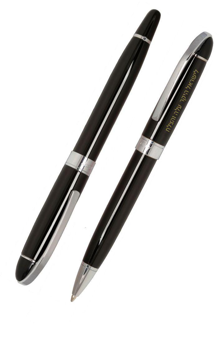 זוג עטים יוקרתיים כולל הקדשה