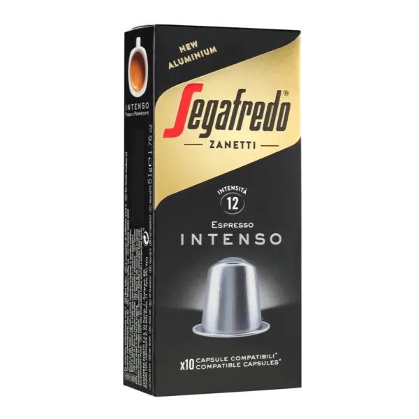 100 יחידות Intenso  - קפסולות אלומיניום תואמות נספרסו - מבית סגפרדו (SEGAFREDO)