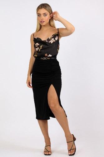 חצאית מידי  ערב קיילי שחור