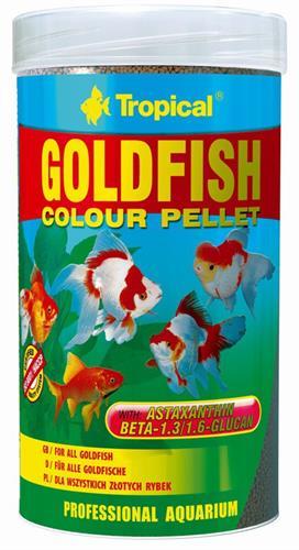 """מזון גרגירים עם מחזק צבע לדגי זהב 100 מ""""ל (tropical)"""