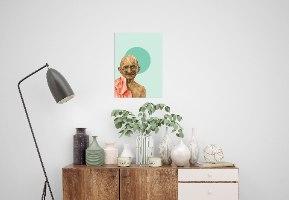 הדפס ציור - מהטמה גנדי