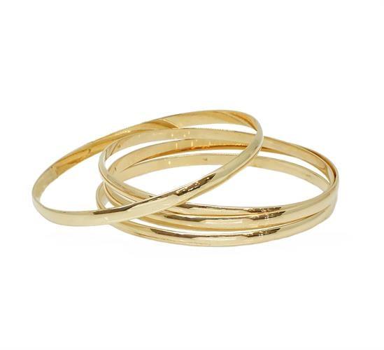 עותק של צמיד זהב קשיח חלק זהב צהוב 14 קאראט