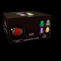 מכונת קפה בריסטה תואמת נספרסו + מארז 100 קפסולות מומנטו מיקס