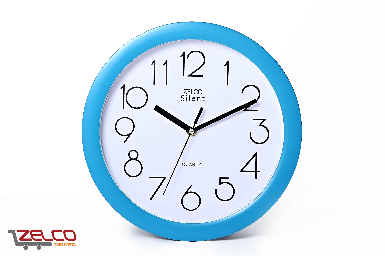 שעון קיר עגול צבע כחול