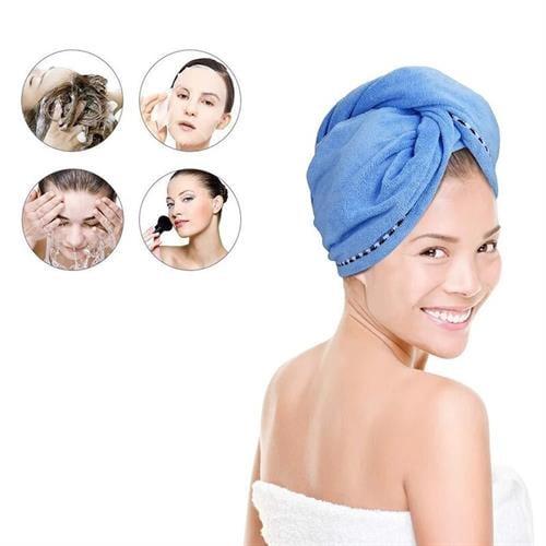 מגבת שיער מיקרופייבר ליבוש מהיר וטבעי- MicrofibHair
