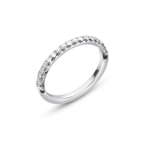 טבעת איטרניטי - טבעת חצי אינפיניטי(נצח) - טבעת משובצת יהלומים 0.35 קראט