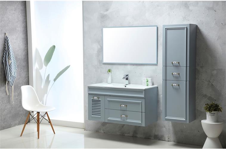 ארון אמבטיה תלוי עץ מלא דגם קווין QUEEN