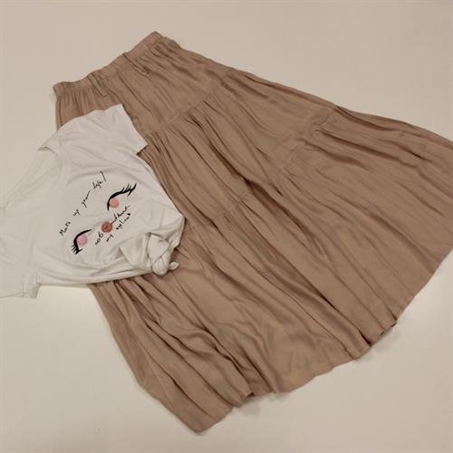 חצאית מקסי קומות ורוד בהיר