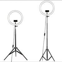 """טבעת תאורה Ring Light ליוטיוברים וצלמים קוטר 26 ס""""מ + חצובה ושלט"""