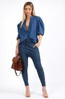 חולצת לילוש  כחול/פרחוני