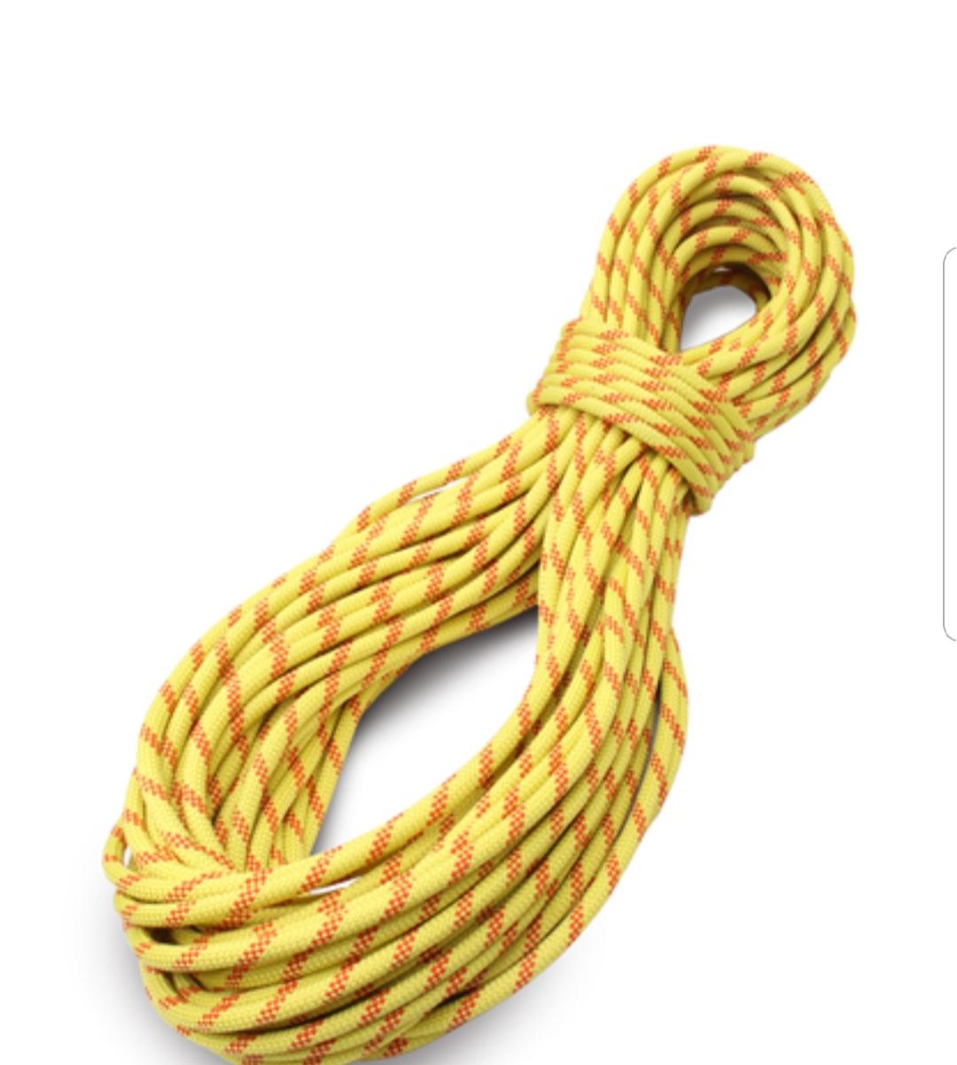 """חבל 11 מ""""מ סטטי  Tendon צבע צהוב - מחיר למטר"""