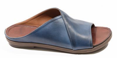 כפכף נוחות שטוח לנשים כחול-לבן דגם - LC890-2