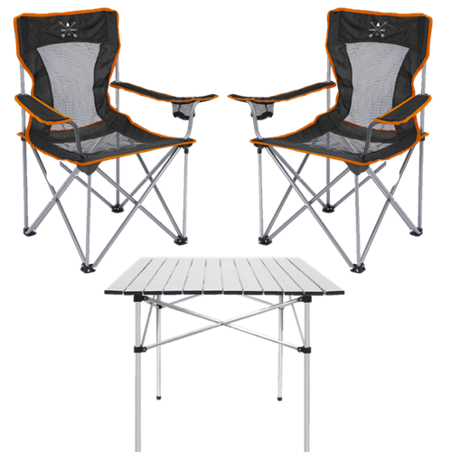 סט 2 כסאות קמפינג SAFARI + שולחן Deanurse M