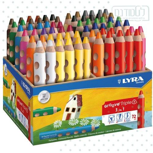 עפרונות צבעוניים עבים מאוד