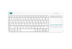 מקלדת אלחוטית לבן Logitech Touch K400 Plus Retail