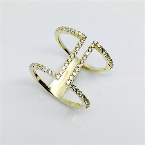 טבעת כסף נשים ציפוי זהב925 MY06140007191