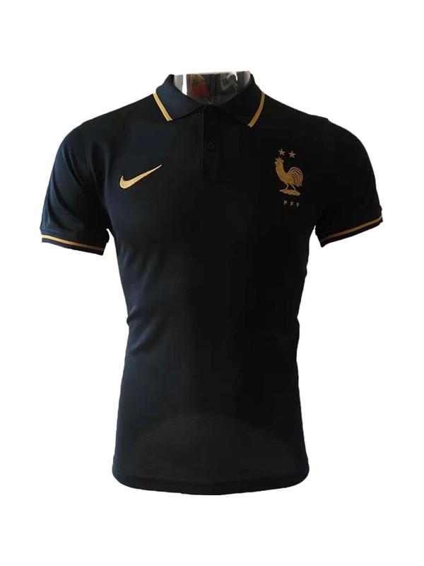 חולצת פולו צרפת שחורה