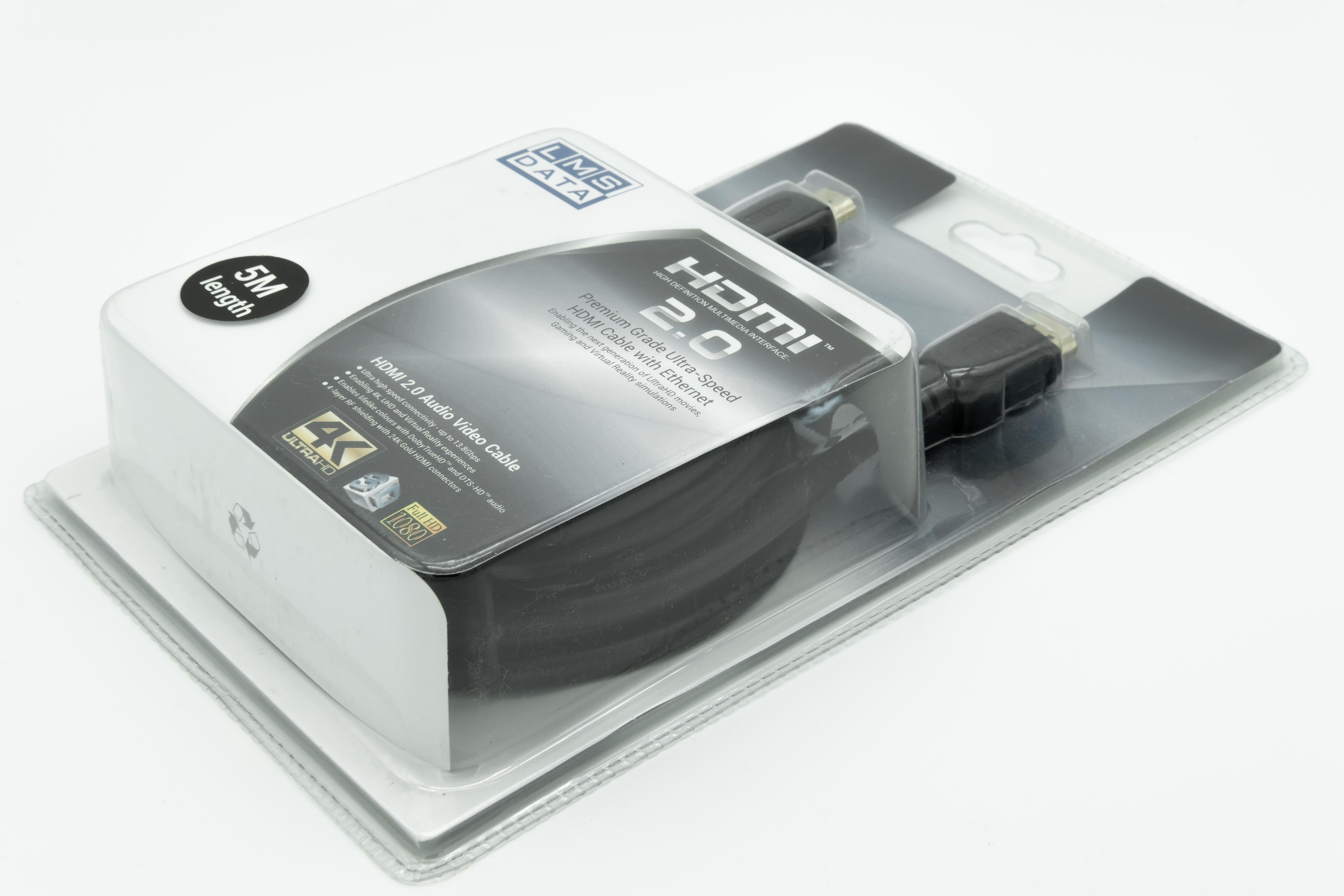 כבל 4K HDMI 5m בבליסטר