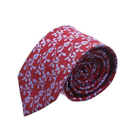 עניבה פרחים סגול אדום