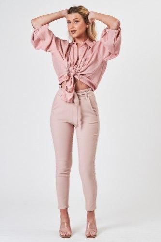 חולצת אוברסייז נדין ורוד/סגול/פרחוני