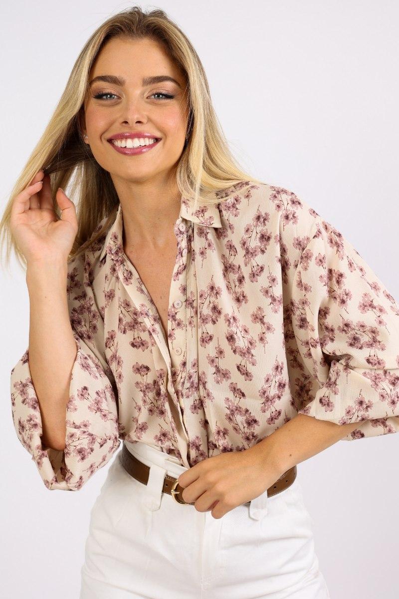חולצת טיאה פרחוני
