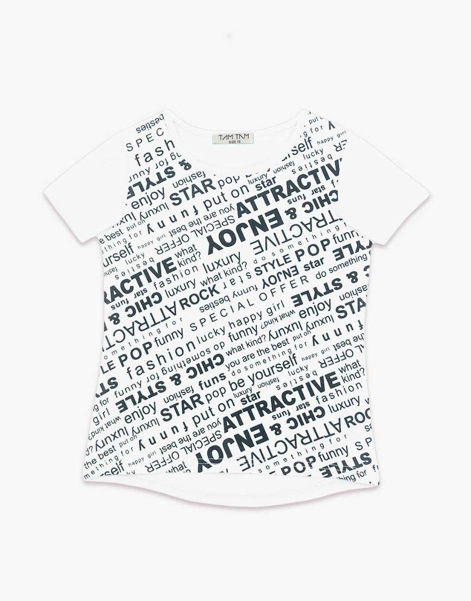 חולצה בנות טריקו מעוצבת ATTRACTIVE