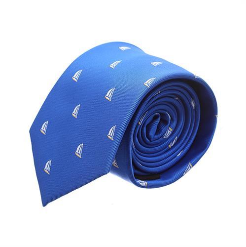 """עניבה """"סירות"""" כחול רויאל"""