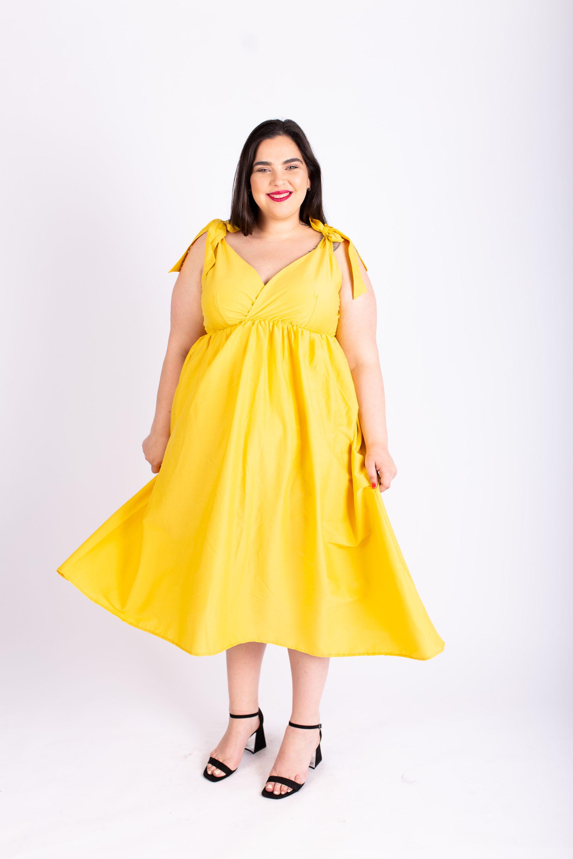 שמלת אמה צהובה