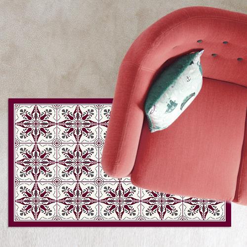 שטיח PVC ויניל לעיצוב הבית - אפור בורדו